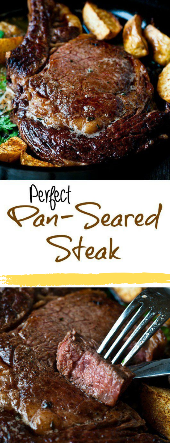 Perfect Pan-Seared Steak #dinner #steak