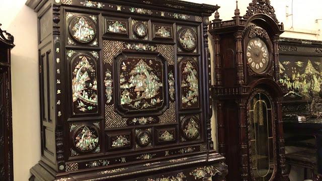 Tủ thờ cẩn ốc cẩm gỗ cẩm lai -B17