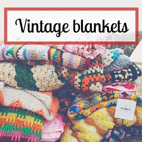 Vintage crochet blankets (photo source: Bluebird) | Happy in Red