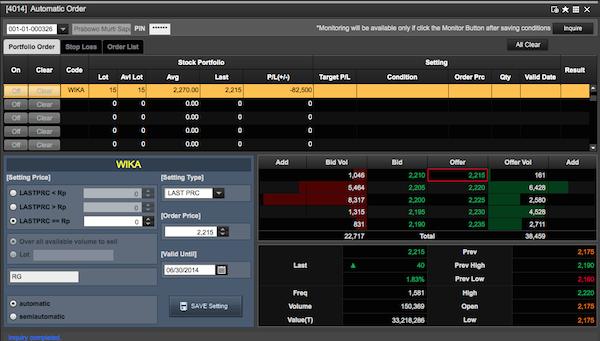 detail menu automatic order saham di DT NextG