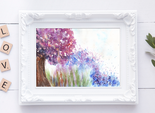 Free Watercolor Landscape Painting