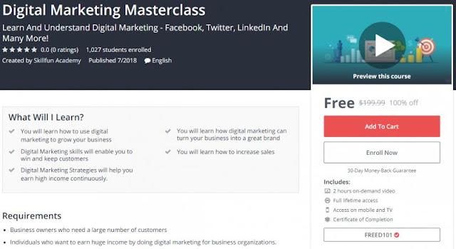[100% Off] Digital Marketing Masterclass| Worth 199,99$