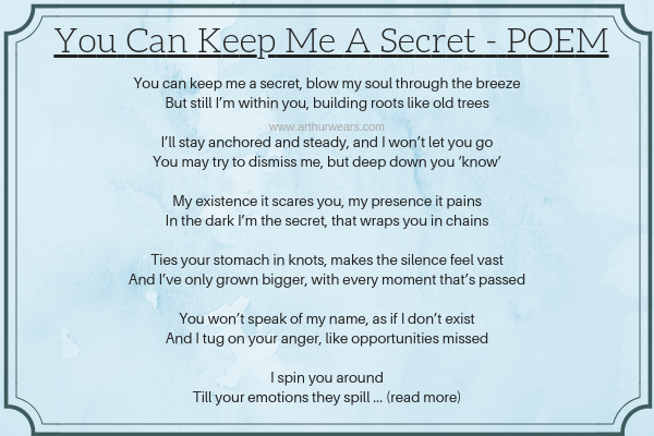 a poem - you can keep me a secret