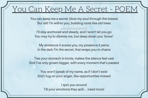 a poem - you can keep me a secret