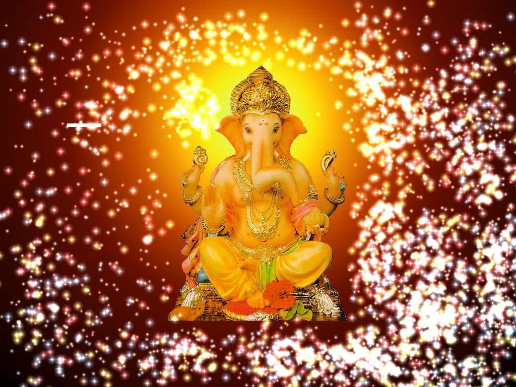 Beautiful Ganesha Lighting Wallpaper