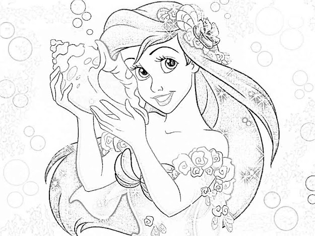 Coloring Pages Enchanting Ariel Coloring Pages Ariel Coloring Pages  Fortacool Ariel Coloring Pages