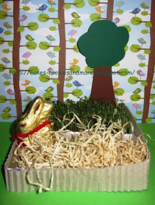 Osterkörbchen mit Kresse