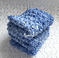 Blue Handmade Dish Cloths