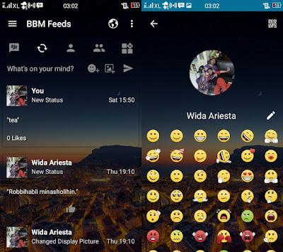 Download BBM Full DP Mod Android Apk v3.3 Ganti Background dan Warna Sendiri (Transparan/Wallpaper)