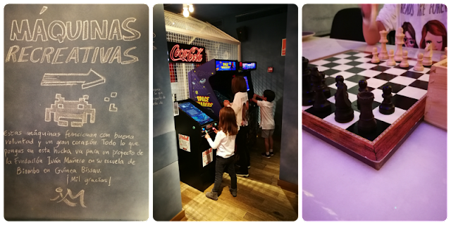 juegos en el restaurante Bellavista del Jardín del Norte
