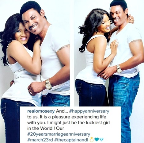 Actress Omotola Jalade Celebrates Hubby's Birthday & Wedding Anniversary with Cute Photos