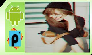 edit foto efek glitch picsart