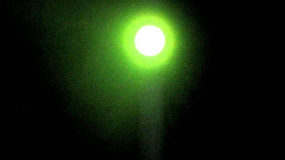 Similar looking green UFO witnessed by people in Irma, South Carolina, USA.