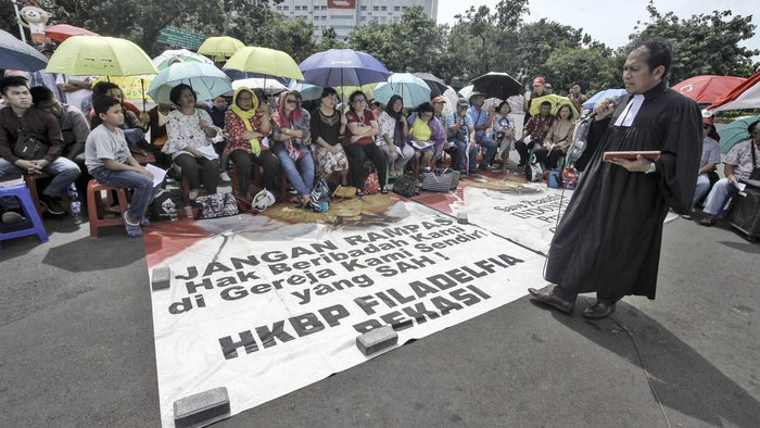 Jemaat GKI dan HKBP Menumpang Rumah Ibadah Untuk Merayakan Paskah