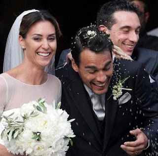 Fabio and his wife at their wedding