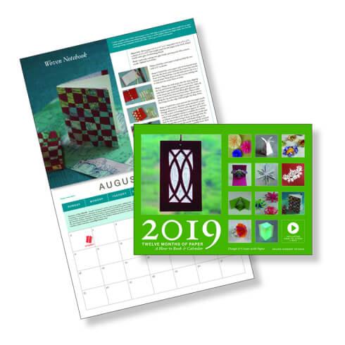 Twelve Months of Paper Calendar 2019 edition