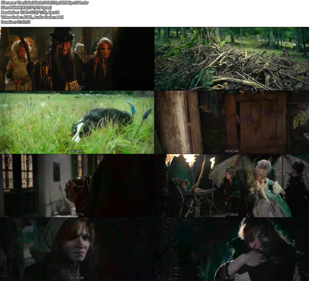 The Little Witch 2018 720p WEBRip x264 | 480p 300MB | 100MB HEVC Screenshot