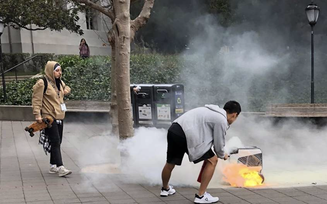 Delivery robot bursts into flames at UC Berkeley