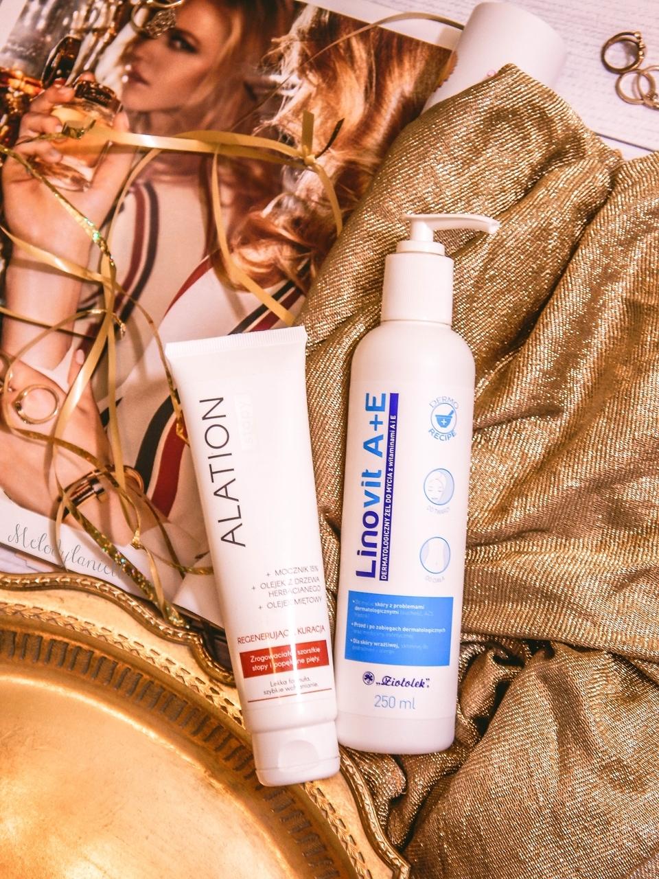 8 ziołolek Linovit a + e dermatologiczny żel do mycia z witaminami  recenzja opinia działanie krem do stóp schodząca skóra zrogowaniała skóra popękane pięty