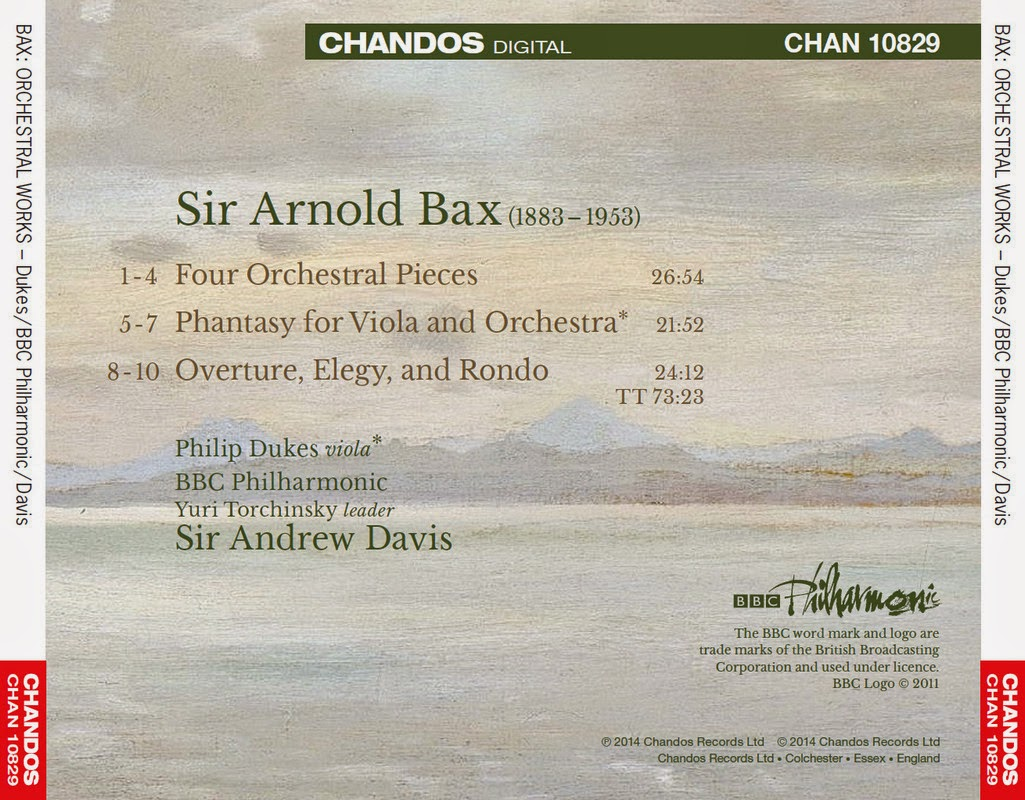 Sir Andrew Davis is among the most distinguished interpreters of British  music today and here turns to the works of Sir Arnold Bax.