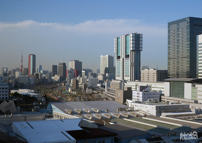 Vue sur Tôkyô de jour depuis Shinagawa