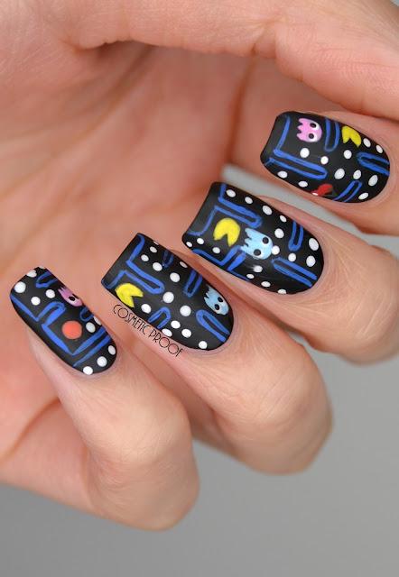 Pacman nail art