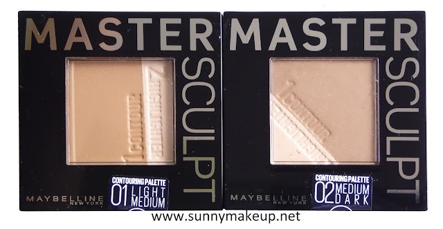 Maybelline - Easy Contouring. Master Sculpt: 01 Light Medium, 02 Medium Dark.