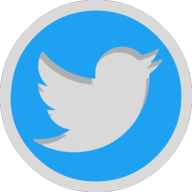 twiter button outline