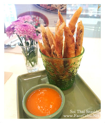 Fried Spring Rolls with Carrot Sauce