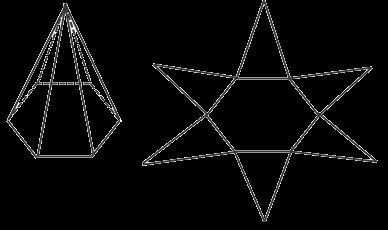 gambar jaring limas segi lima