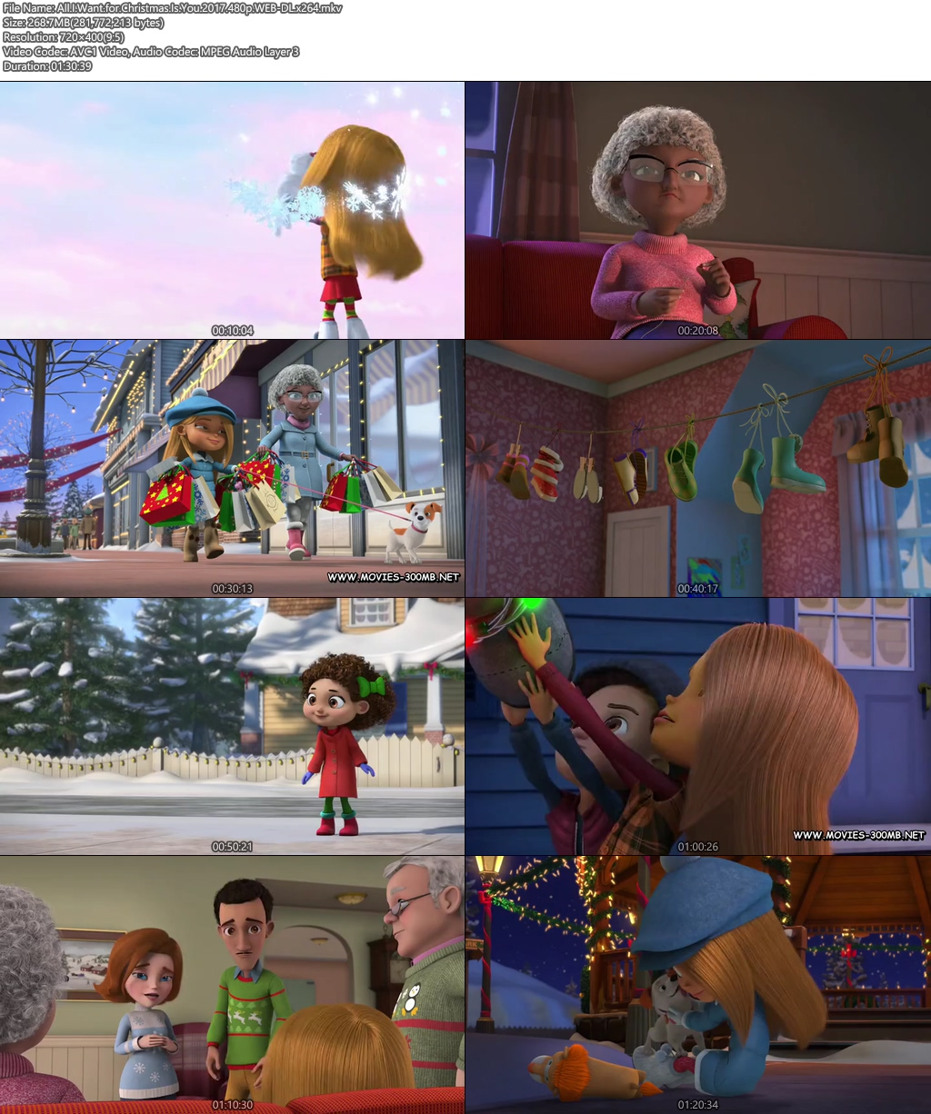 All I Want for Christmas Is You 2017 480p WEB-DL 300MB x264 Screenshot