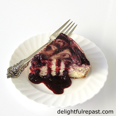 Cherry Swirl Cheesecake - Instant Pot (or other electric pressure cooker) / www.delightfulrepast.com