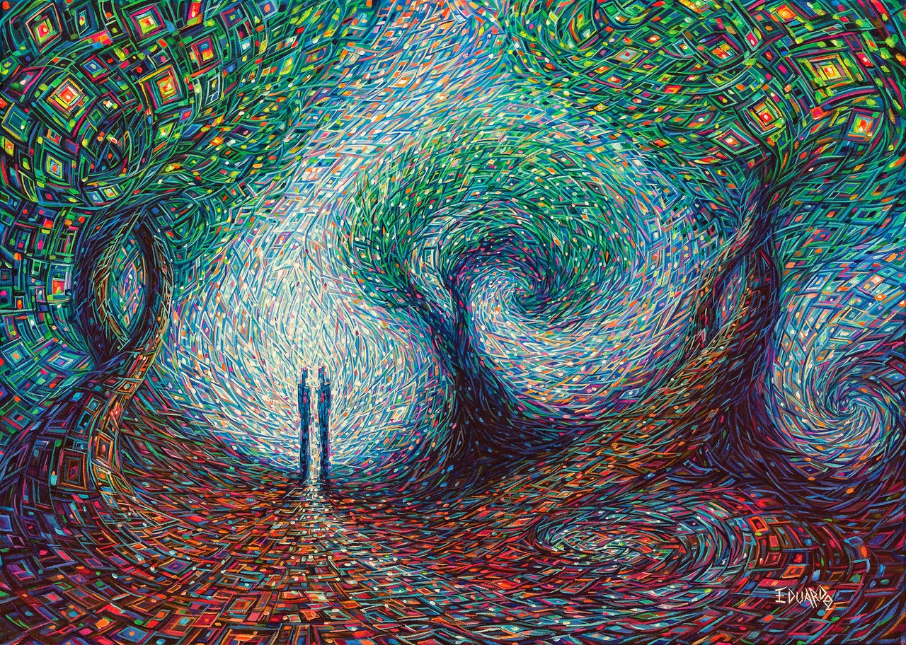 11-Two-Souls-Eduardo-R-Calzado-Paintings-in-Swirls-of-Colour-www-designstack-co