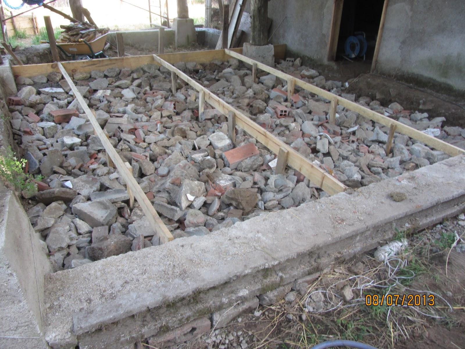 Tortugaboreal proceso de construcci n de mi taller for Hormigon encerado sobre suelo de baldosas