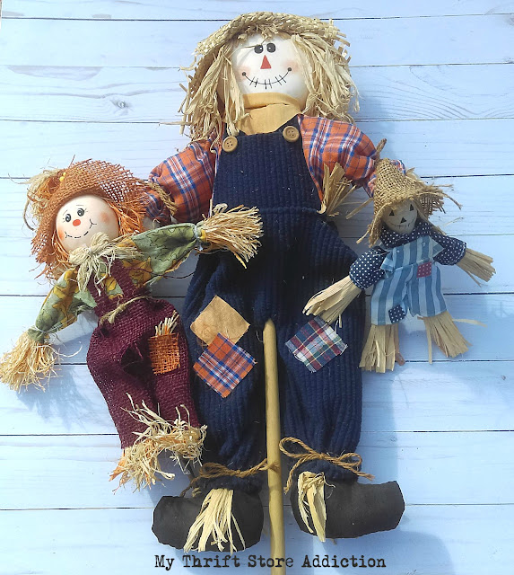 thrift store scarecrows