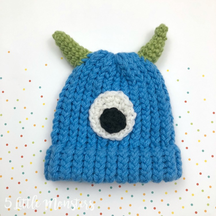 5 Little Monsters Embellished Baby Hats Monster And Dinosaur