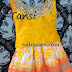 Yellow Printed Kids Skirt