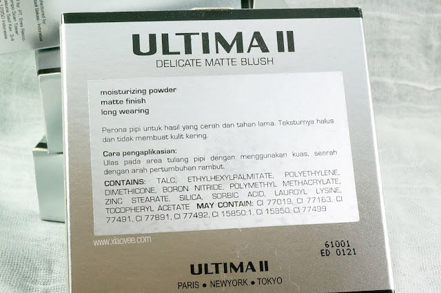 Ultima II Delicate series review, Ultima II delicate review, Ultima II delicate blush review, Ultima II delicate blush on review, Ultima review Bahasa Indonesia, Ultima II review Delicate Bahasa Indonesia