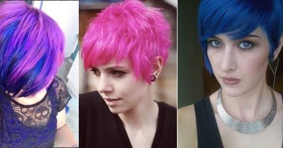 crazy colors short hair