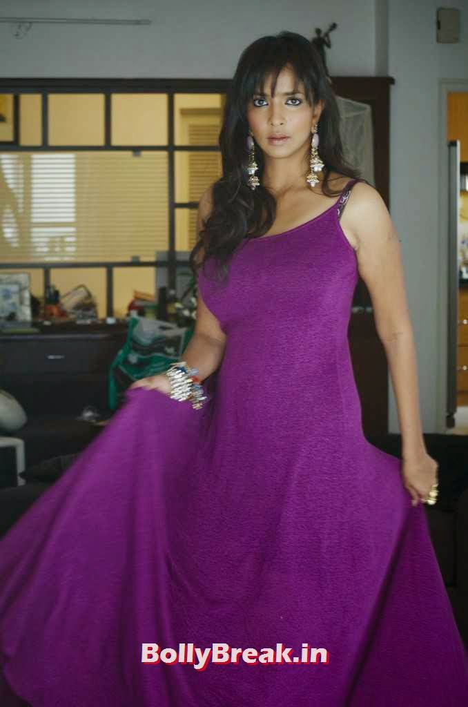 Manchu Lakshmi Images, Telegu Actress Lakshmi Manchu hot pics in purple dress