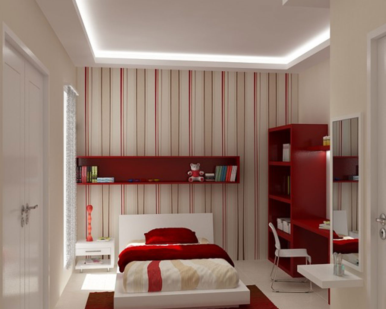 Beautiful modern homes interior designs new home designs for Red room design ideas