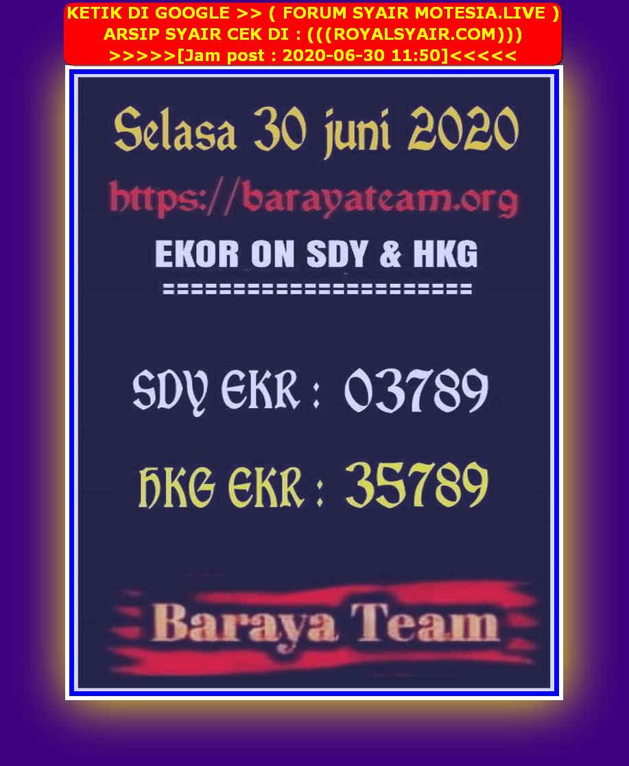 Kode syair Hongkong Selasa 30 Juni 2020 293