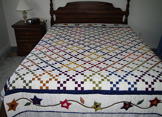 Nines and Vines Quilt by The Fredericton Quilters' Guild, The Free Pattern by Fons & Porter's: Love of Quilting