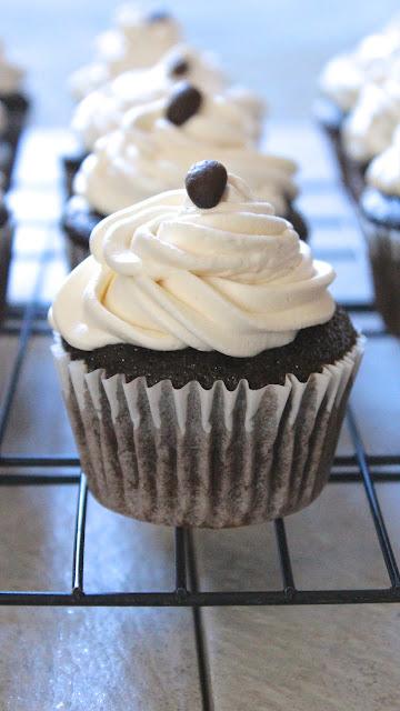 Chocolate Mocha Cupcakes with Irish Cream Frosting