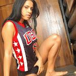 Andrea Rincon, Selena Spice Galeria 27 : Camiseta Basket, Cachetero Negro Foto 18