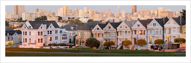 Alamo Park San Francisco wide panoramic photo print for sale, Tuxyso wikipedia Owen Art Studios Panoramas