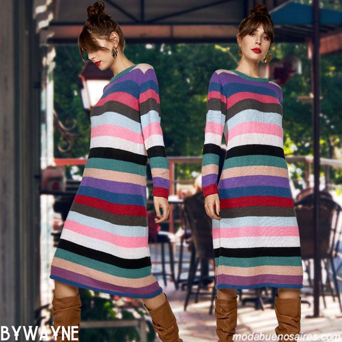 Vestidos invierno 2019. Ropa de moda mujer invierno 2019.