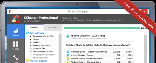 CCleaner Professional cập nhật liên tục Active online – Phần mềm dọn dẹp, tăng tốc máy tính
