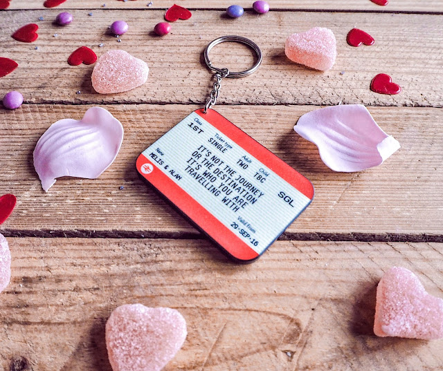 Train ticket thoughtful and romantic gift idea for Valentine's