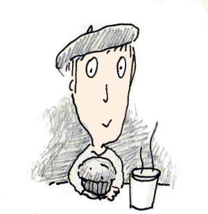 Mel Kobayashi eats a face muffin on Bag and a Beret